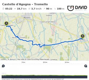 Via Francigena Weg von Castello nach Tromello
