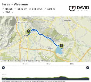 Via Francigena Strecke: Ivrea nach Viverone.
