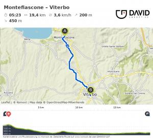 Via Francigena: Montefiascone nach Viterbo wandern.