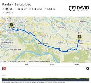 Via Francigena von Pavia nach Belgioioso