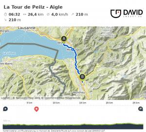 Via Francigena: Tour De Peilz nach Aigle Route