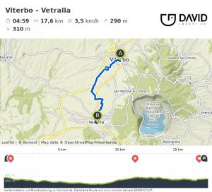 Via Francigena: Viterbo nach Vetralla